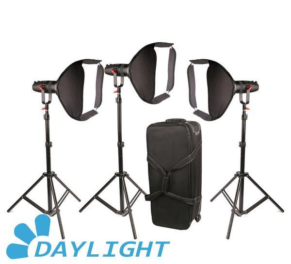 3 Pcs CAME-TV Boltzen 30w Fresnel Fanless Focusable LED Daylight Package