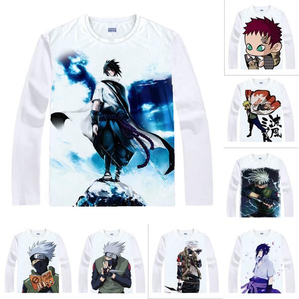 Anime Shirt Ninja NARUTO T-Shirts Multi-style Long Sleeve Kakashi Hatake Itachi Uchiha Cosplay Motivs Kawaii Shirts