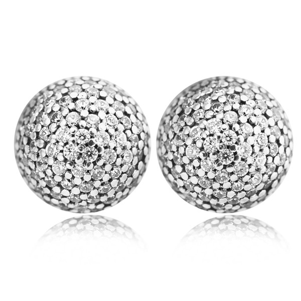 925 Sterling Silver Earring for Women Fashion Jewelry Authentic European 2017 Valentine's Day Pave Drops Clear CZ Drop Earrings