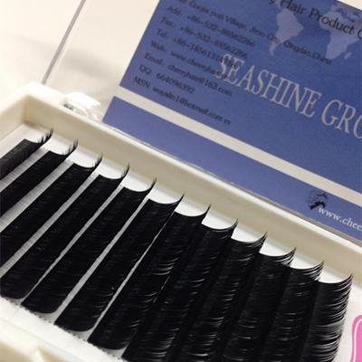 Wholesale Thickess 0.07mm-0.15mm Fake Long Eyelashes Natural Individual Eye Lashes Extension Black Eyelash Extensions