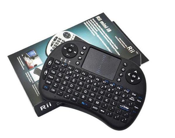 2017 Kablosuz Klavye rii i8 klavyeler Fly Air Fare Çok Medya Uzaktan Kumanda Touchpad El TV BOX Android Mini PC için