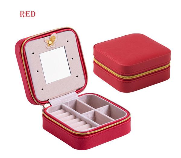 Portable travel Korean jewelry box Jewelry travel Bag Princess small