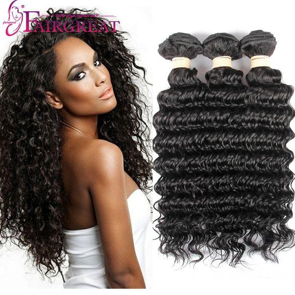 Cheap Brazilian Deep Wave Hair Bundles 100% Unprocessed Brazilian Human Hair Extensions 3Bundles Brazilian Deep Wave Hair Weave Bundles
