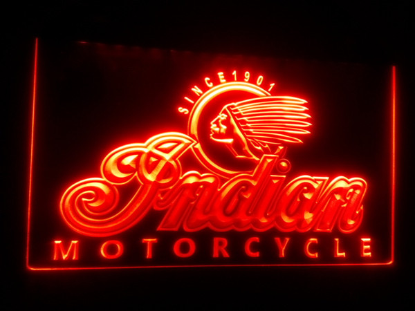 best selling b158 Indian Motorcycle Services Logo beer bar pub Neon Light Sign