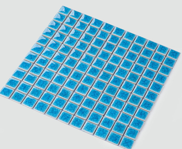 2019 Hot Sale Glossy Mosaic Flooring Tiles,Ice Crack Ceramic Swimming Pool  Tiles/Bathroom/Kitchen Wall Tiles,White/Blue/Yellow Optional,LSBL2501 From  ...