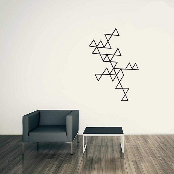 2018 Estrella Triangle Wallpaper Geometrical Pattern Series Products Home  Decor Wall Art Stickers Modern Stylish Decoration Window Cling Decal Window