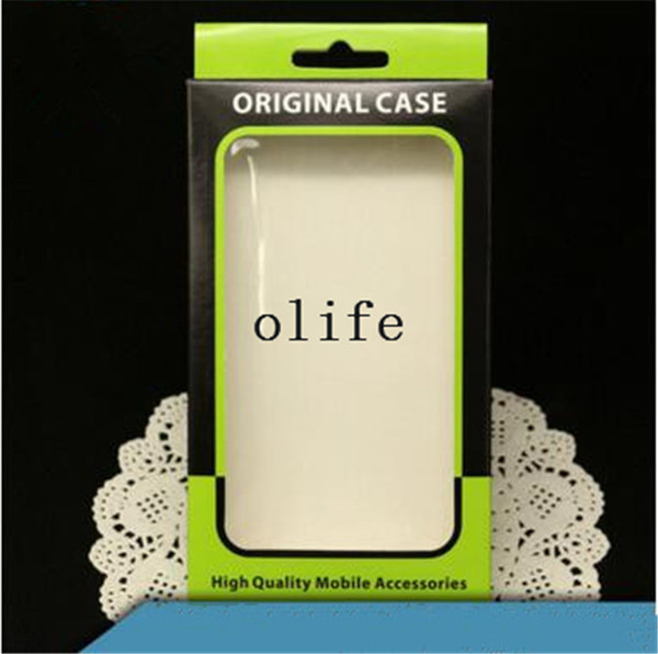 Universal Plain Green Paper Retail Package packing Box Boxes for Phone Case Cover iPhone 7 6 6S PLUS Samsung S8 S7 S6 edge