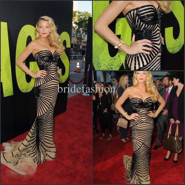 Zuhair Murad Black Line Style sweetheart mermaid zipper back long dress Fashion Celebrity Party Prom Evening Dresses