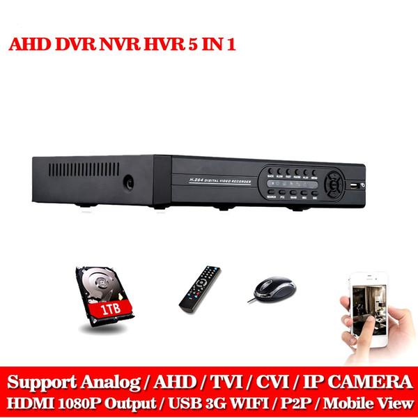 8CH AHD DVR AHD-NH 1080N HD 1080P Video Recorder H.264 CCTV Camera Onvif Network 8 Channel IP NVR Multilanguage With 1TB HDD