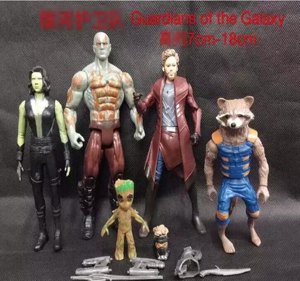 Guardians of the Galaxy 2 Action Figures toy Kids Avengers Superhero Star-Lord Rocket Baby Groot PVC toys 5pcs/set