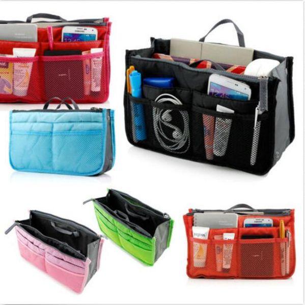 Porte-monnaie Sacs Insérer Organizer Voyage Designer Handbags Femmes Mode Tidy cosmétique de maquillage Sac de rangement Sac de téléphone Sac fourre-tout Divers / MP3 Mp4 Sacs