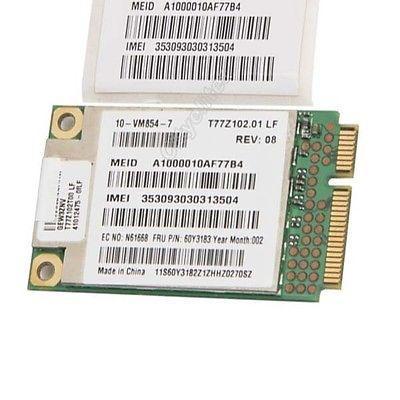 Vente en gros-Carte Adaptateur Sans Fil pour Pour IBM Thinkpad Lenovo Gobi2000 3G Sans Fil WWAN Carte 60Y3183 60Y3263 X201 / X201i / T410 / T410i W510 + GPS