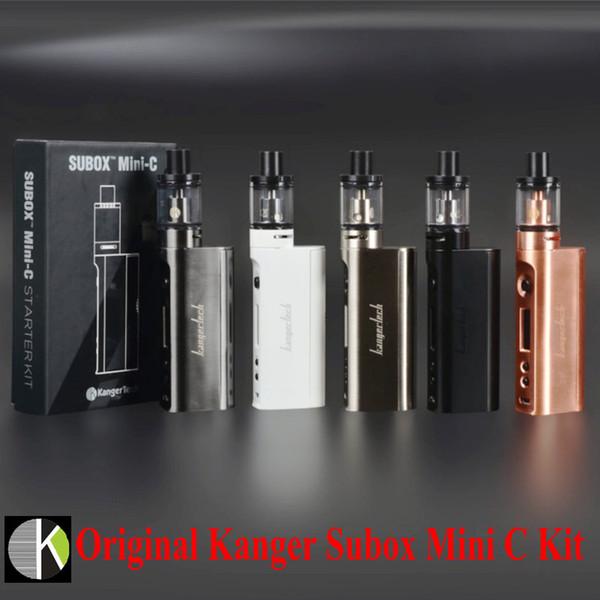 Wholesale-Original KangerTech Subox Mini C Starter Kit 50W KBOX Box Mod With 3ml Top Refilling Kanger Protank 5 Atomizer SSOCC Vaporizer