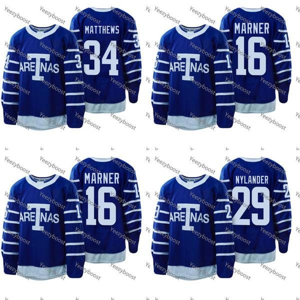 1918 Arenas Throwback Jerseys 34 Auston Matthews 16 Mitchell Marner 29  William Nylander Toronto Maple Leafs e0c676db7