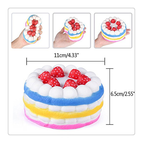 Wholesale Kawaii Squishies Cake Squishies Slow Rising Cream Cake Kids Christmas Toy Gift Stress Relief Toys Cat Phone Case Free Shipping