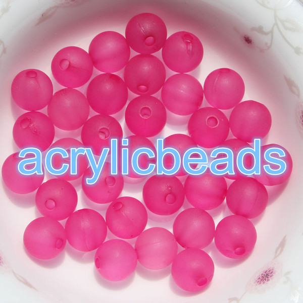 2018 Hottest 6mm Acrylic Clear Matte Frosted Round Beads Spacer Plastic Gumball Bubblegum Balls for Bracelet Jewelry DIY 100pcs