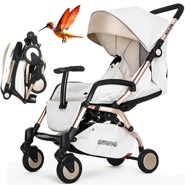 PU 6.9KG Super-light Portable Pram, allow in airPlane, High-quality, Folding, Aluminum Alloy, Suspension, Baby Stroller.