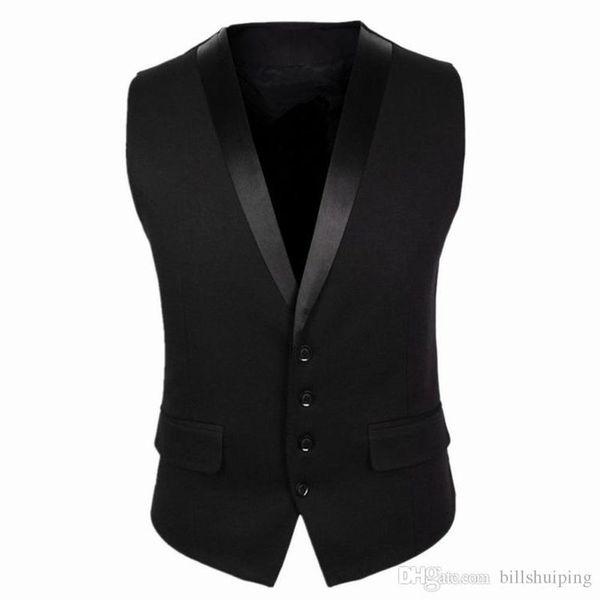 New vest for men autumn Korean business casual slim fit mens vest sleeveless suit vests cardigan jackets coat men's clothing
