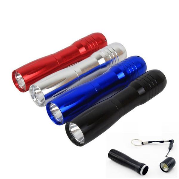 Keychain 3W imprägniern Supermini-Taschenlampen geführte Taschenlampe 1 * AA-Batterie für das kampierende wandernde wandernde Jagd-Fischen