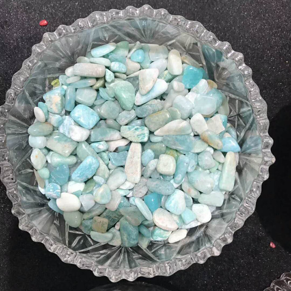 1 Bag 100 g Natural aquamarine quartz Stone crystal Tumbled Stone Irregular (Size: 5--20 mm, Color: blue)