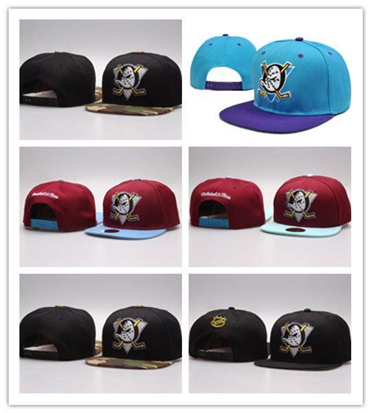 6f9d7241be121 Top Fashion 2017 NHL Mighty Hockey Snapback Hats Anaheim Ducks bone cap Flat  Fashion nhl Hats