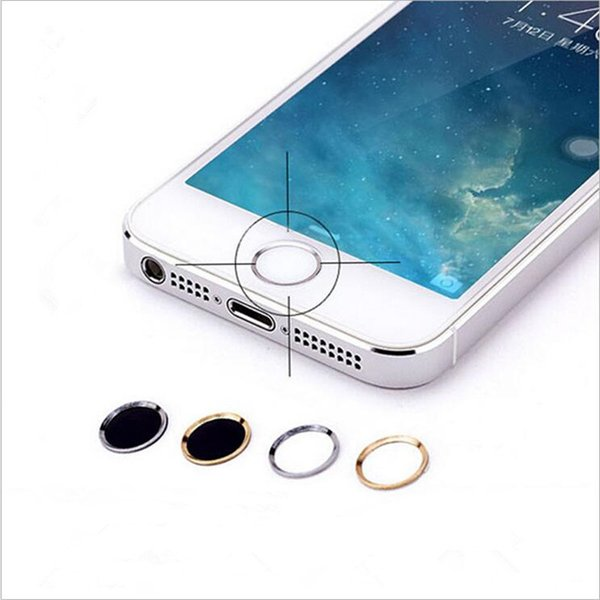 Home Smart Metal Buttons Stick Fingerprint Identification Concave Keys Touch ID Botton Phone Round DIY Decoration Sticker For Iphone 6 6s