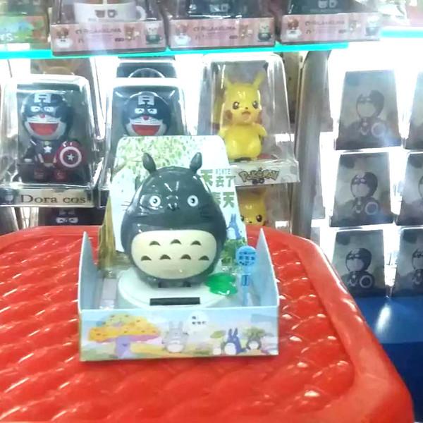All'ingrosso-Libero 6 pezzi per lotto Altalena sotto la piena luce decorazione della casa a dondolo Solar Powered Novità giocattoli Totoro