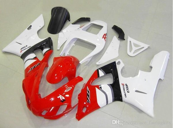 Three free beautiful gift and new high quality ABS fairing plates for YAMAHA YZF-R1 YZFR1000 1998 1999 very nice Nice style red black white