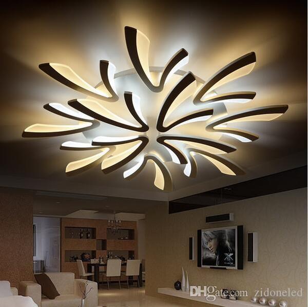 Moderne Minimalistische LED Deckenleuchten Kronleuchter Für Wohnzimmer  Schlafzimmer AC85 265V Home Modern LED Deckenleuchte Kronleuchter