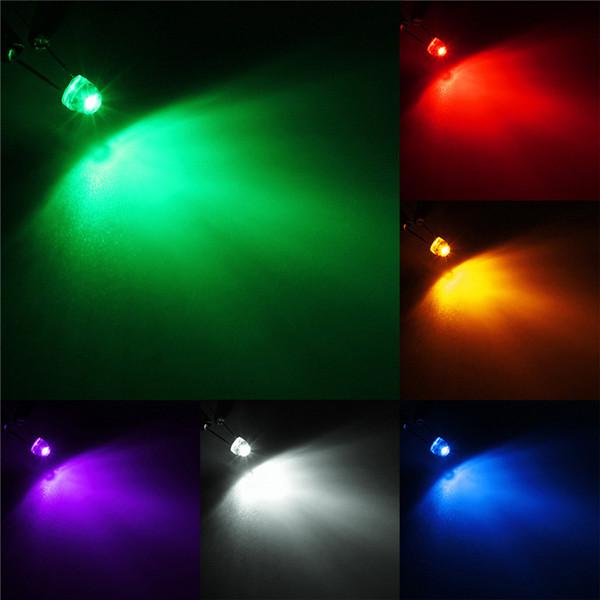 100x 5 mm chapeau paille DEL Bleu Grand Angle Light lampe 5 Mm DEL Bleu Livraison Gratuite