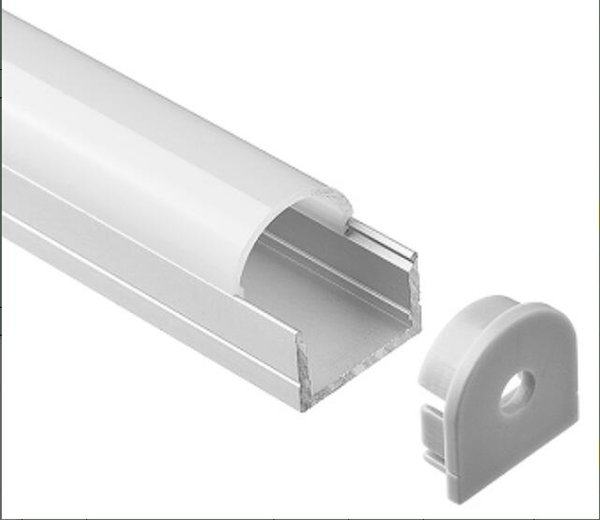 2m/pcs 50m/Lot Free shipping New Design LED Linear Light Cabinet Profile with Milky White or clear cover and plastic end caps