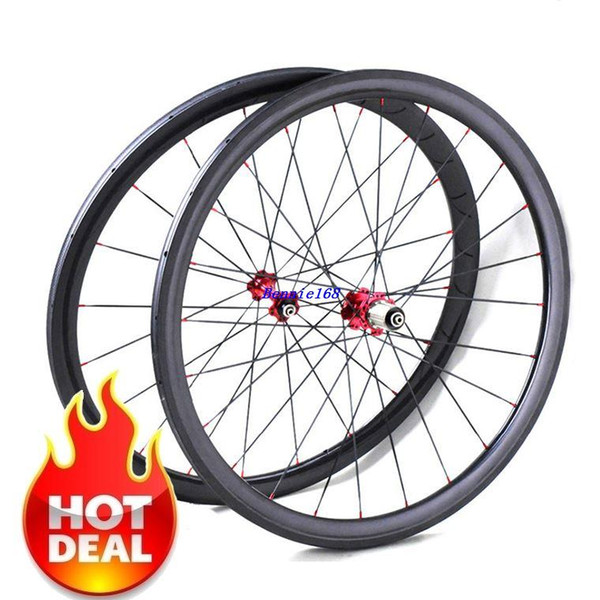 700C 23mm wide Road Bike Carbon 38mm Tubular Wheelset road bicycle wheels wholesale china factory novatec 271/372 hub