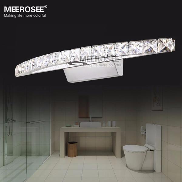 Zeitgenössische Hauptdekor-LED Kristallspiegel-Wand-Wandlampen Cristal LED Edelstahl-Beleuchtung für Badezimmer MD81539