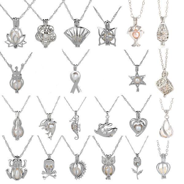 best selling 18kgp love wish pearl  gem beads locket cages Pendants, DIY Pearl charm pendants mountings free shipping