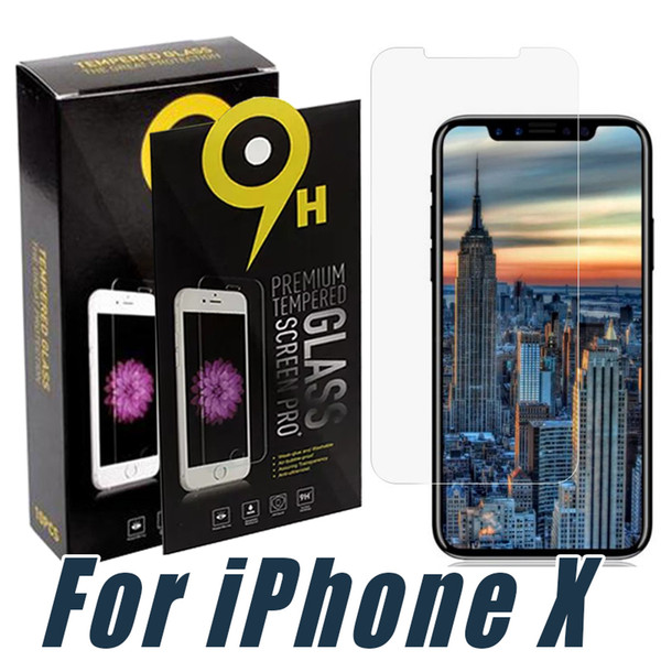 top popular For iPhone 11 pro max XR XS 8 7 6S Plus Tempered Glass Screen Protector 9H Anti-shatter Film For Samsung J3 J7 Prime 2017 2018 LG Stylo 4 3 2020