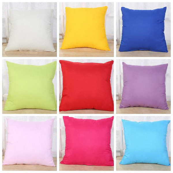 Home Sofa Pillowcase Pure Color Pillow Cover Polyester White Pillowslip Cushion Cover Decor Pillow Case Blank Christmas Decor Gift SF09-2