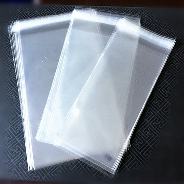 Free Shipping Transparent Ice Cream Package Bag Plastic Popsicle Packing Pouch Self Adhesive Food Bag three Sizes 200pcs
