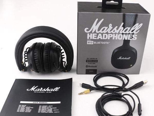 MOQ 1PCS Marshall MID Bluetooth Headphones With Mic Deep Bass DJ Hi-Fi Headset Professional Marshall Headphones Wireless headsets