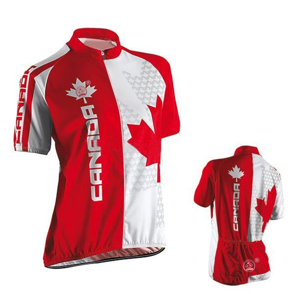 Women Customized NEW Hot 2017 JIASHUO CANADA Bike mtb road RACING Team Bike Funny Pro Cycling Jersey / Shirts & Tops Clothing Breathing Air