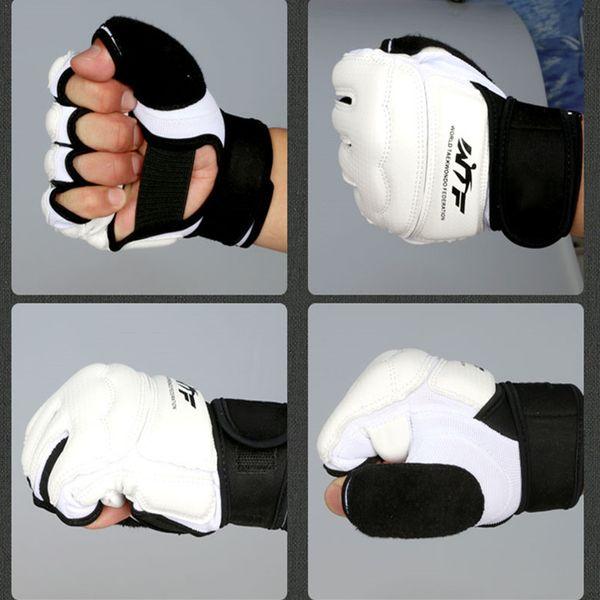 Wholesale- WTF TaeKwonDo sparring Gloves Hand Protector Gear Taekwodno Half Finger Gloves