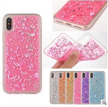 2017 Gold foil Glitter Bling Platinum Case Goldleaf Silver foil Clear Soft TPU Back Cover for iphone X 8 7 6S plus Cases