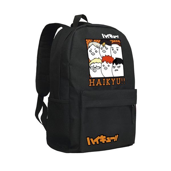 HAIKYU School Bag Oxford Bag Anime Knapsack HAIKYU Backpack Boys and Girls Laptop Rucksack Teenagers Camping Bag Children School Bags