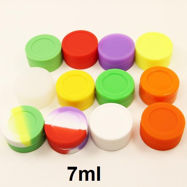 7ml silicone container silicone herb storage container jar seals FDA approved food grade silicone dabber essential oil container