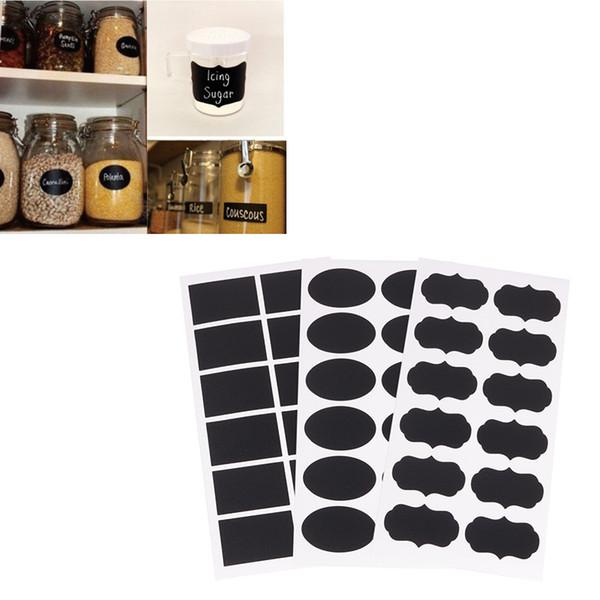 Cute Small Decorative 3 Styles Chalk Black Board Mason Jar Labels Removable Stickers Chalkboard Cheap New free shipping