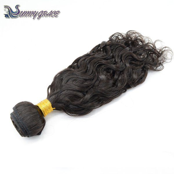 fast shipping brazilian virgin human hair bundles natural wave curly black color hair extension sunny grace raw hair