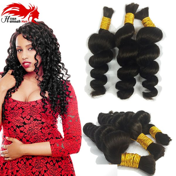 top popular Human Hair For Micro Braids Bulk Hair Loose Wave High Quality Brazilian bulk hair extensions without weft 2019