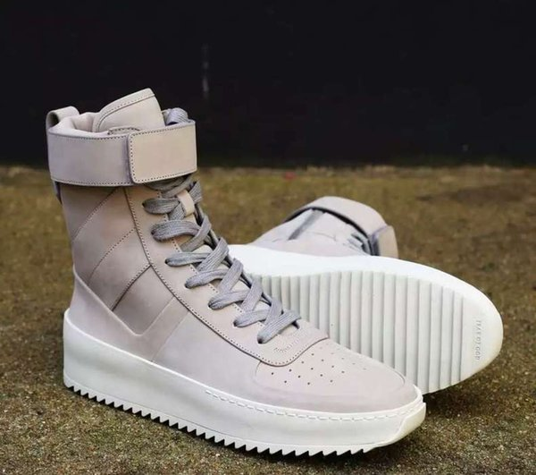new styles 5eca9 8b4d1 Without BOX FEAR OF GOD Military Sneaker Boot JERRY LORENZO ,BIEBER High  boot Transparent soles