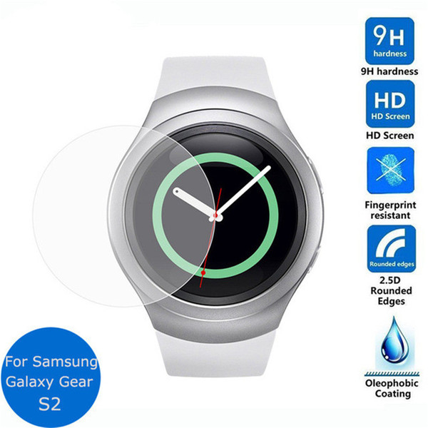 100PCS 0.3mm Ultra Thin 9H Hardness Premium Tempered Glass Screen Protector Film For Samsung Galaxy Gear S2 No Package