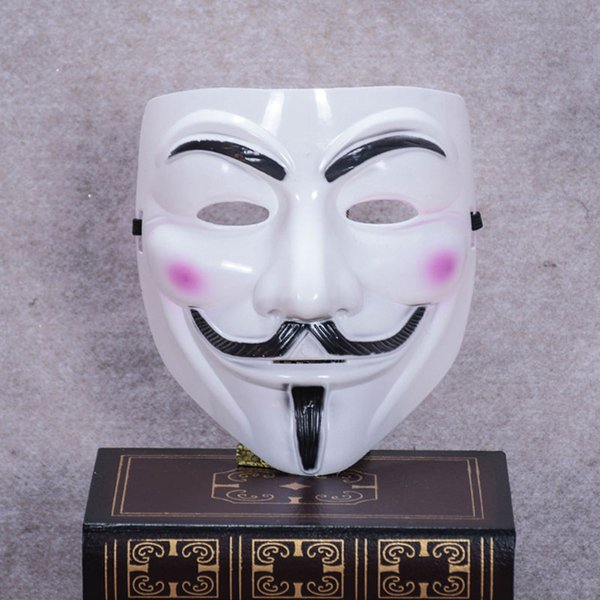 100 pcs V Mask Masquerade Masks For Vendetta Anonymous Valentine Ball Party Decoration Full Face Halloween Super Scary Party Mask