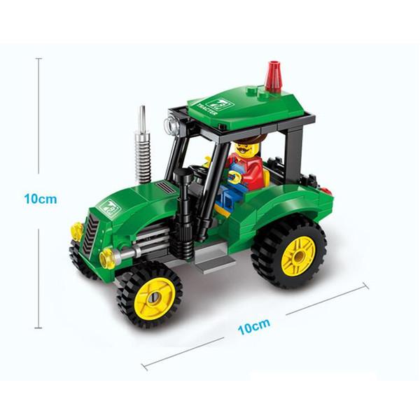 top popular Super Cool!! 112pcs set Forklift Trucks Assembly Building Blocks Kits Children Educational Puzzle Toys Kids Birthday Gifts 2020